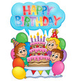 kids party theme image 8 vector image vector image