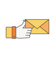 like message email social media icon vector image