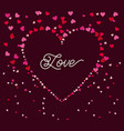 love heart romantic passion emotion vector image