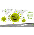 mad virus spread composition vector image vector image