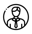 man silhouette icon outline vector image vector image