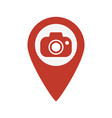 map pointer with camera icon vector image