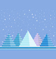 mountain winter landscape is flat style vector image