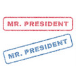 mrpresident textile stamps vector image vector image
