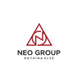 n triangle sign vector image vector image
