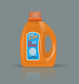 orange laundry detergent bottle mock up with high vector image