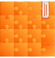 orange plastic pieces puzzle game vector image