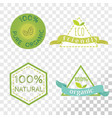 organic labels collection isolated on transparent vector image