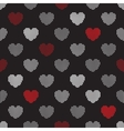 Pattern from halftone hearts vector image vector image