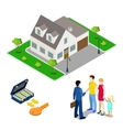 Real Estate Business Broker and Young Family vector image vector image