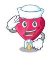 sailor chocolate heart on ice cream cartoon vector image vector image