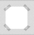 scotch frame tapes on paper transparent strip vector image vector image