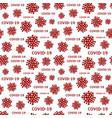 seamless pattern coronavirus disease 2019 vector image vector image