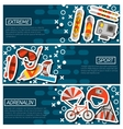 Set of Horizontal Banners about Extreme sports vector image vector image
