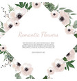 spring sale floral banner with flowers on vector image vector image