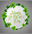 st patricks day background with green vector image vector image