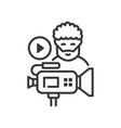 videoblog - line design single isolated vector image