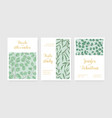 wedding floral invitation templates set vector image vector image