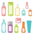 Set 2 of cosmetics containers vector image
