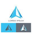 triangle arrow progress logo finance vector image