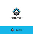 abstract geometric mountain logo vector image vector image