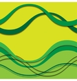 abstract green waves with shadows vector image