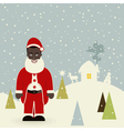 African American Santa Claus vector image vector image