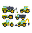 agricultural machinery colored pictures in vector image vector image