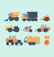 agricultural mechanisms and machines set farm vector image vector image
