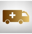 Ambulance sign Flat style icon vector image vector image