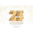 Anniversary 25 gold 3d numbers