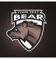 Bear emblem logo for a sports team vector image vector image