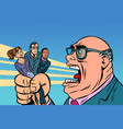 boss yells at subordinates vector image vector image
