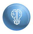 brain bulb icon outline style vector image vector image