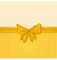 card template with yellow bow vector image vector image