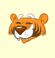 cartoon tiger head icon vector image vector image