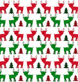 Christmas Holiday Seamless Pattern with Little vector image vector image