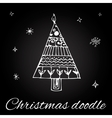 Christmas tree in doodle style vector image