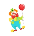 Circus Clown Artist In Classic Outfit With Red vector image