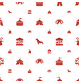 circus icons pattern seamless white background vector image vector image