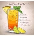 cocktail mai tai vector image