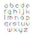colorful font alphabet letters vector image vector image