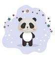 cute bear panda kawaii birthday card vector image