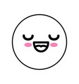 cute kawaii emoticon vector image vector image