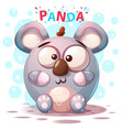 cute panda characters - cartoon vector image vector image
