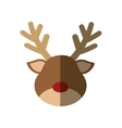 cute reindeer character icon vector image vector image