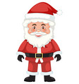 cute santa white background vector image vector image