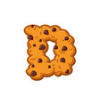 d letter cookies cookie font oatmeal biscuit vector image vector image