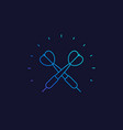 dart linear icon vector image vector image