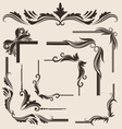 decorative-frame-set vector image vector image